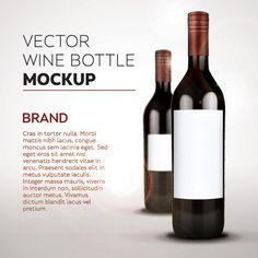 Wine Bottle Mockup Icon Set