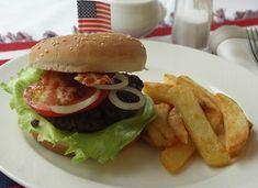 Bacon Burger (Hamburger mit Speck)