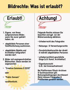 Bildrechte - was ist erlaubt und was nicht? #Infografik http://www.epubli.de/blog/bildrechte