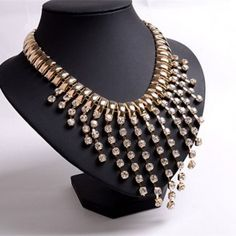 Tassel Diamond Necklace Clavicle Short Paragraph Fake Collar Accessories TCDN0081