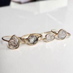 Diamond Slice Rings / Wedding Style Inspiration / LANE