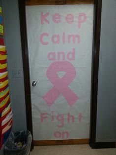 Breast cancer awareness week. Classroom door banner