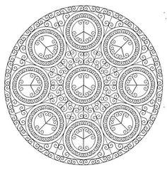 Mandala 641, Creative Haven Groovy Mandalas Coloring Book, Dover Publications