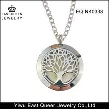 Stainless Steel Essential Oil Diffuser Tree of Life Pendant Necklace
