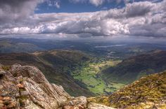 Langdale And Windermere From Harrison Stickle ©Stuart Gennery