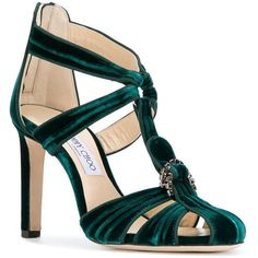 424bccababca Jimmy Choo Krissy sandals (€895) ❤ liked on Polyvore featuring shoes