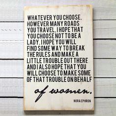 Nora Ephron............