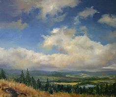Passing Clouds by Paula B. Holtzclaw Oil ~ 20 x 24