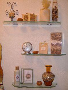 Ordinaire Custom Glass Shelf :: Glass Shelves   Custom Glass Chiseled Edges By Sans  Soucie Art
