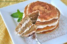 Tiramisu Protein Pancakes by Heather Powers