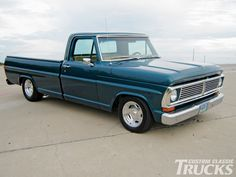 Old School: 1970 Ford F-100 Truck.