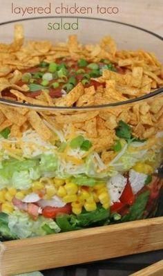 Layered Chicken Taco Salad by dizrose19