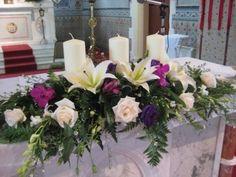 Floral Arrangements for Church Altars | Found on shadesofbloom.com