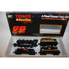 REVELL TEXACO HAVOLINE ERNIE IRVIN 4 PC TRAIN SET HO TRAIN SET DIE CAST