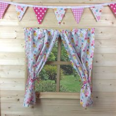GIRLS PLAYHOUSE CURTAINS ~ FLORAL SUMMER ~ WENDY/SUMMER CURTAINS & ACCESSORIES | eBay
