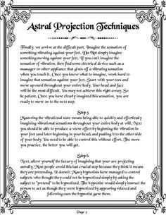 Astral Projection Cont. Page 3