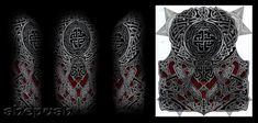 Celtic style half sleeve by shepush