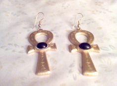 Vintage JJ Jonette Southwest pierced hook earrings  by Buttonladys