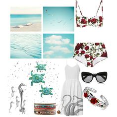 At the sea with D&G by ninastylez on Polyvore featuring polyvore fashion style Dolce&Gabbana Bling Jewelry