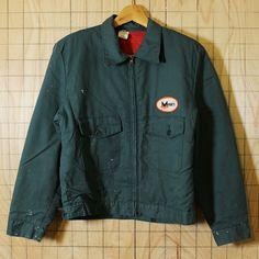 【RED KAP】USA製70sビンテージ古着グリーンキルティングMOORE'Sワークジャケット|メンズM