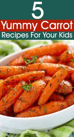 5 Yummy Carrot Recipes To Try Out For Your Kids.  Adults need them too.