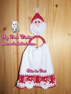 Artes da Desi: Porta pano de prato Papai Noel http://www.artesdadesi.com/2014/09/porta-pano-de-prato-papai-noel.html