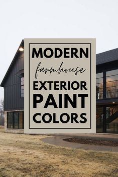 The best modern farmhouse exterior color schemes! These exterior paint combinations will look great on any house! You can't go wrong with any of these paint options!