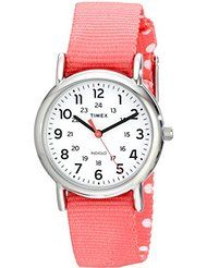 Timex Women's TW2P656009J Weekender Silver-Tone Watch with Reversible Pink Nylon Band by Timex $22.50$49.95Prime FREE Shipping on eligible orders See Details Show only Timex items 4.6 out of 5 stars 250