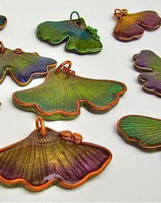 Gingko leaf pendants