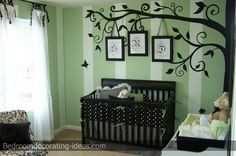 decorating a room with dark green carpeting | ... teddy bear and quit patterns really add a girly touch to this room