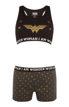 """Primark - """"Wonder Woman"""" Set mit Top und Shorts"""