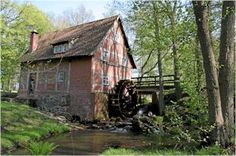 Wildeshausen, Niedersachsen, water mill on Hunte river