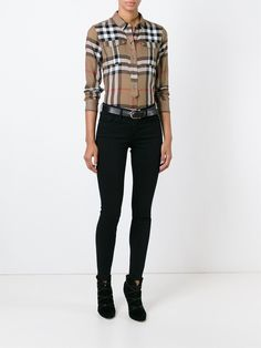 Burberry Brit, Camisa Burberry, Black Outfits, Suit Vest, Powerful Women, Fashion Pants, Casual Wear, Going Out, Style Me