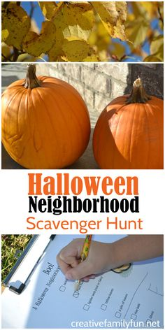 Let the kids explore the neighborhood with this fun Halloween scavenger hunt.