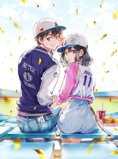 Anime Art, Boy, Girl, Couple, After School Anime Cupples, Chica Anime Manga, Anime Guys, Anime Demon, Manga Kawaii, Kawaii Anime Girl, Anime Couples Drawings, Anime Couples Manga, Anime Girl Cute