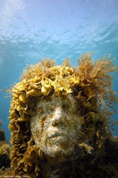 jason de caires taylor creates life-like sculptures which are then submerged beneath the sea creating new 'reefs'