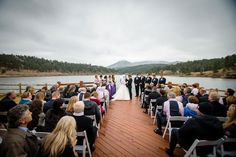 Mountain lakeside ceremony at @EvergreenRec |  Image: taylorjonesphotography.com