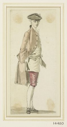 A young man,looking Paul Sandby from a volume of 134 figure studies acquired at the Paul Sandby estate sale, Human Sketch, History Of England, Historical Clothing, Men's Clothing, 18th Century Fashion, Picture Cards, Watercolor Drawing, Young Man, Pretty Pictures