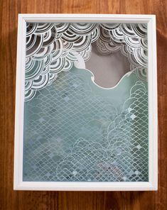 Layered paper and glass print