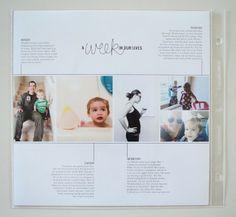 Love the timeline look!  greenfingerprint   simple + modern design: project life   week 13