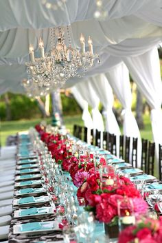 Pretty wedding reception decorations.