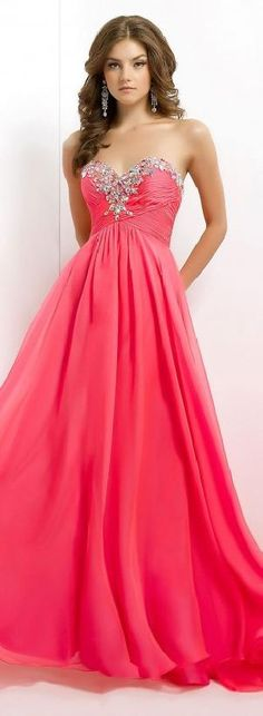 Sexy Red Sleeveless A-Line Floor Chiffon Prom Dresses topgradedresses15484 #promdress