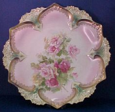 Hand Painted Serving Plate Marked RS Prussia