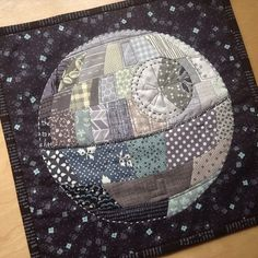 Geeky quilters make me smile!!!   Patchwork Death Star by quirky granola girl, via Flickr