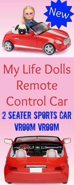My Life Dolls Remote Control Car is new and ready for your My Life Doll and a friend to go for a ride.