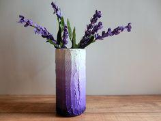 Ombre Purple Vase /  lavender flower vase / by CarriageOakCottage, $22.00