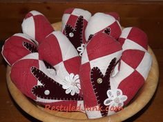 Red and White Quilt Valentine Charm Pillows My husband and I went to an auction this past weekend and didn't get anything that we went there for. That's okay! We didn't leave empt…