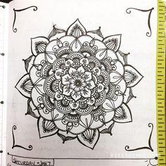 Jan 2-8 - Mandala Journal Closeup