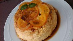 Pudin de naranja en microondas