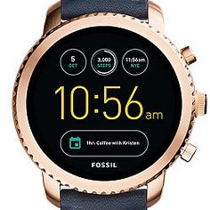 Gen 3 Smartwatch - Q Explorist Navy Leather